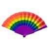 Regenboog-hand-waaier