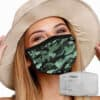 Mondkapje met filter camouflage sfeer